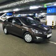 Hyundai solaris 2015 brown